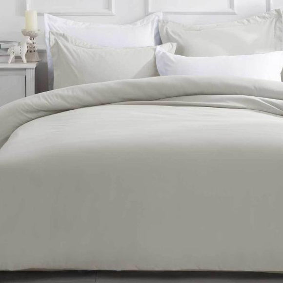 King Size Linen Color Quilt Cover Set (3PCS)