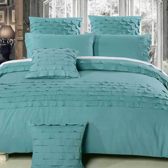 Sens Aqua Quilt Cover Set at Lunamumma