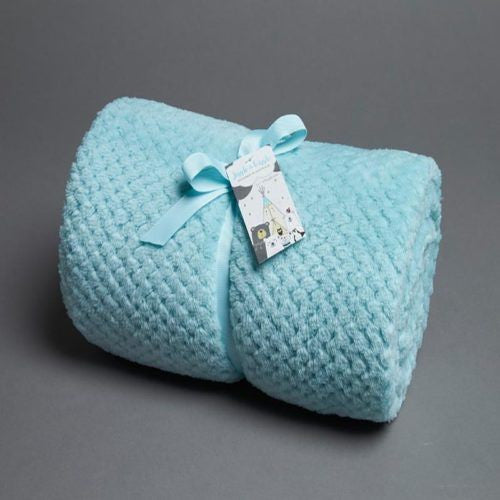 Popcorn Fleece Cot Blanket