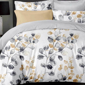 Idina Leaf Quilt Cover Set
