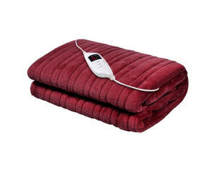 Electric Throw Rug in Burgundy
