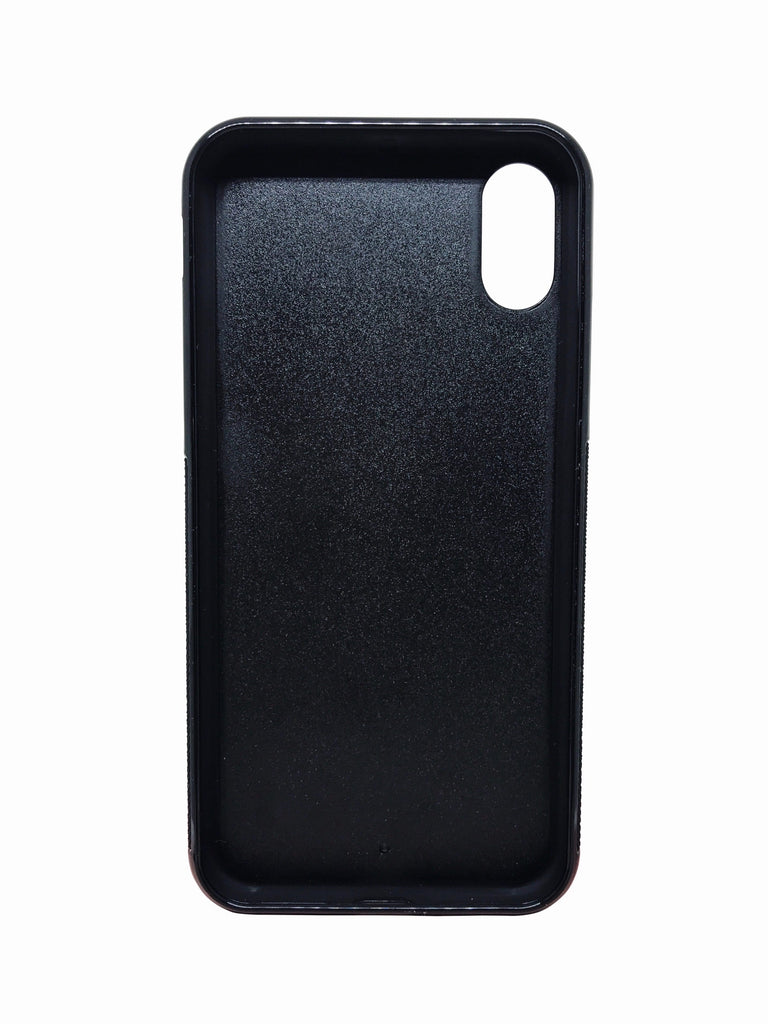 Black iPhone X Case - Saffiano Leather - Valerie Constance