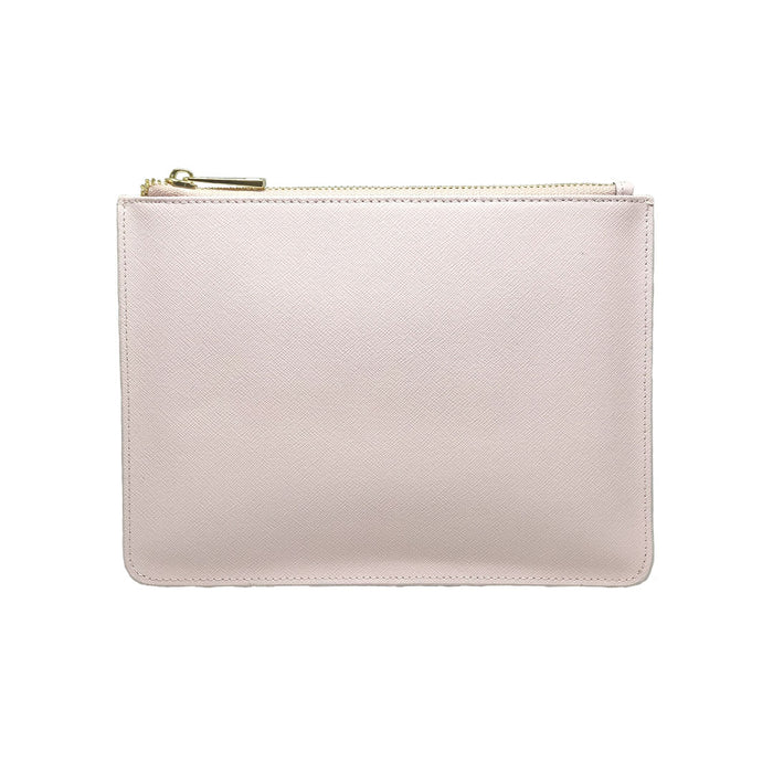 CREPE PINK SAFFIANO LEATHER - CLUTCH POUCH