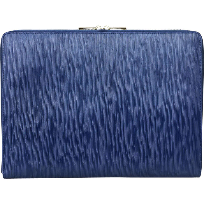 "Laptop Case - 13"" - Blue Epi Leather - Valerie Constance"