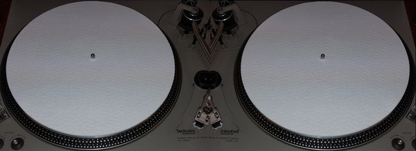 "2x White Felt 3mil Slipmat 12"" Vinyl NEW!! Technics or any Turntable DJ Platter Mats"
