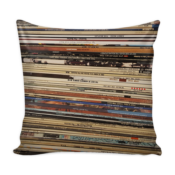 "RETRO PILLOW COVER 16"", VINYL RECORD ALBUMS, British Invasion"