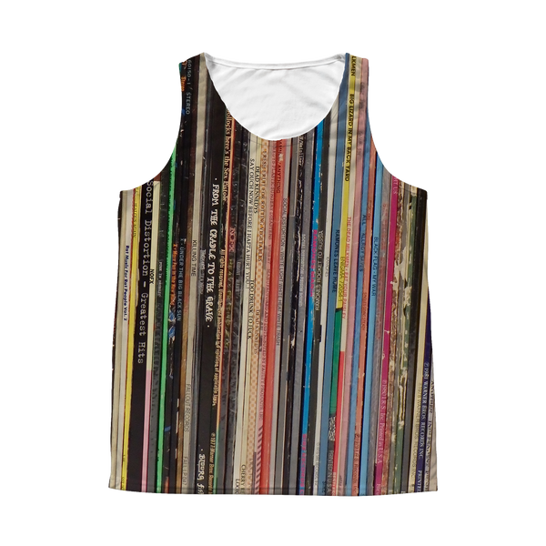 Punk Rock Record Album Tank Top - All Over Print