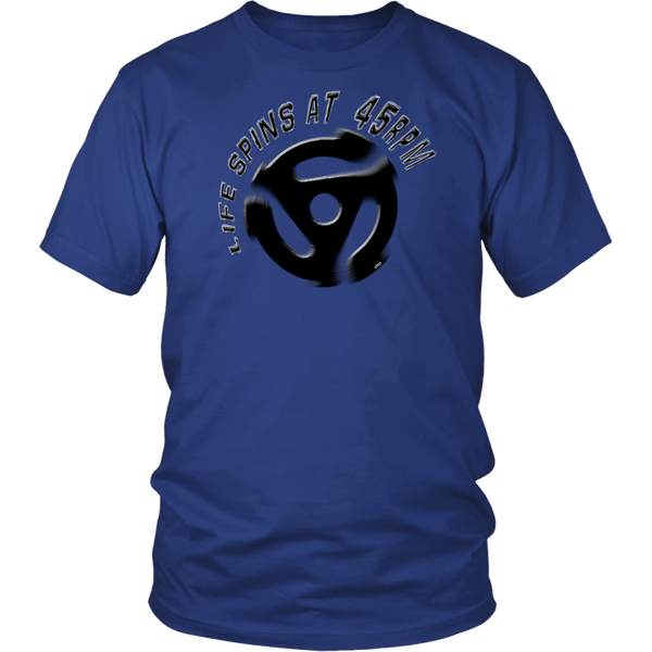 LIFE SPINS AT 45RPM T-Shirt, Vinyl Records