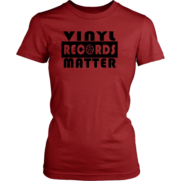 VINYL RECORDS MATTER District Womens, Support The Vinyl Movement, 100% USA Made