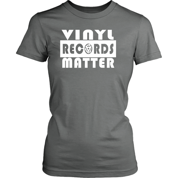 VINYL RECORDS MATTER District Womens Shirt - Support The Vinyl Movement, 100% USA Made