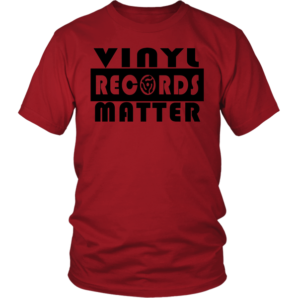 VINYL RECORDS MATTER Unisex T-Shirt, Support The Vinyl Movement 100% USA Made