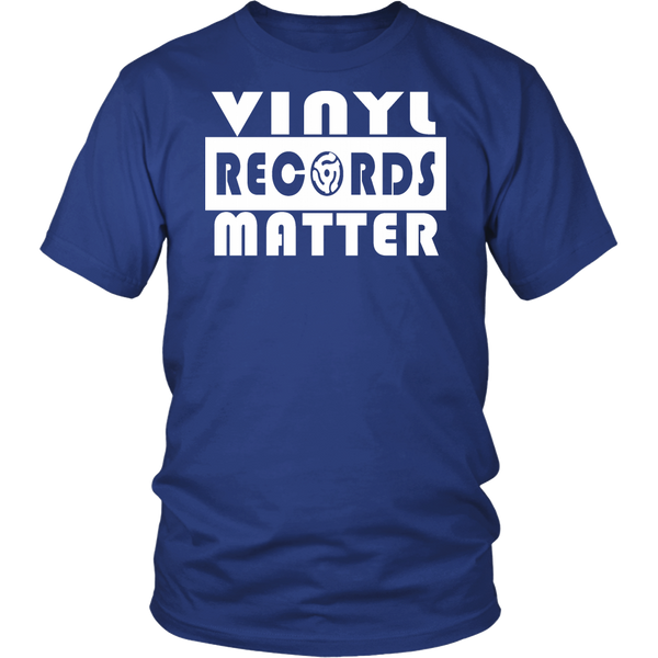 VINYL RECORDS MATTER Unisex T-Shirt - Support The Vinyl Movement, 100% USA Made
