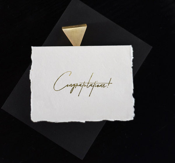 Ivory Congratulations Card - Gold - Envelopes by Olympia