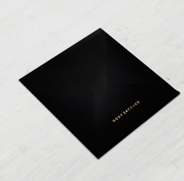 QUEEN - Classic Black Envelope with Gilded Gold Liner - Envelopes by Olympia