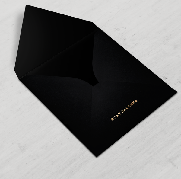 JET - Classic Black Square Envelope - Envelopes by Olympia