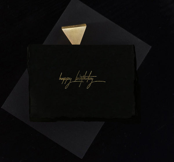 Wishing a Happy Birthday in Midnight - Gold - Envelopes by Olympia