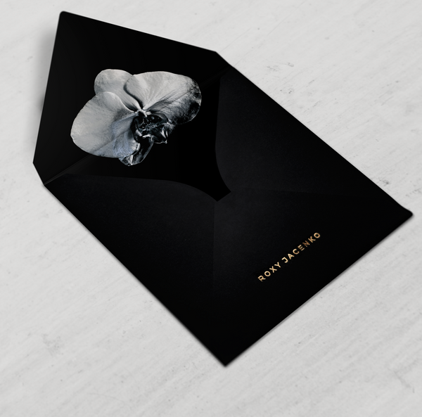 SAMPLE - Classic Black Envelope with Liner - Envelopes by Olympia