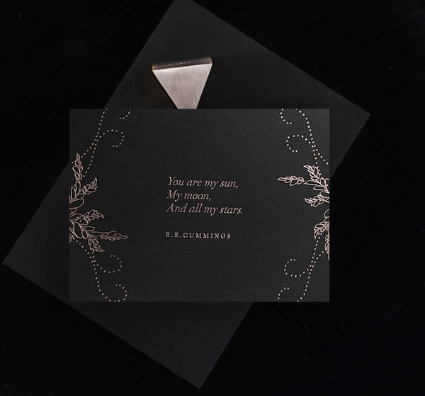 And You are my Sun Card Midnight  - Silver - Envelopes by Olympia