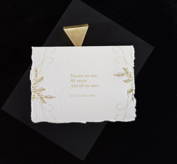 And You are my Sun Card - Gold - Envelopes by Olympia