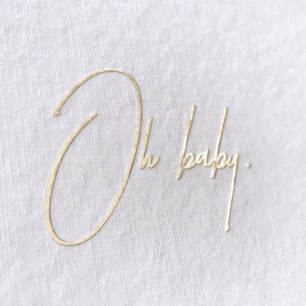 Oh Baby Card - Gold - Envelopes by Olympia