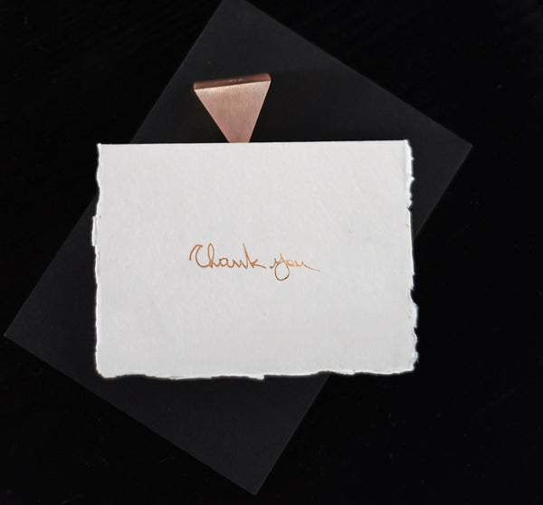 Thank You Card - Rose Gold - Envelopes by Olympia