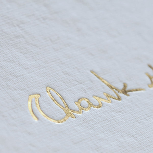 Thank You Card - Gold - Envelopes by Olympia