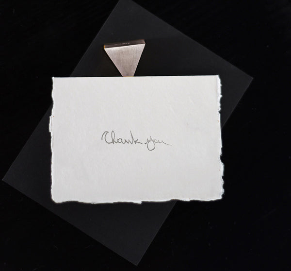 Thank You Card - Silver - Envelopes by Olympia