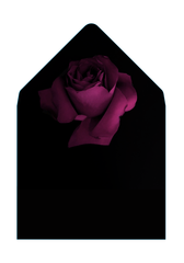 SCARLETT - Classic Black Envelope with Berry Rose Liner - Envelopes by Olympia