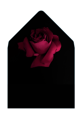 SCARLETT - Classic Black Envelope with Red Rose Liner - Envelopes by Olympia