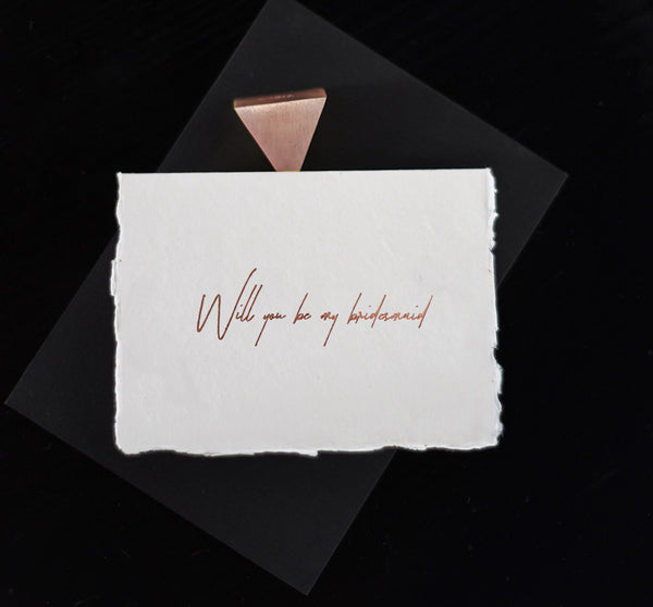 Bridesmaid Card - Rose Gold - Envelopes by Olympia