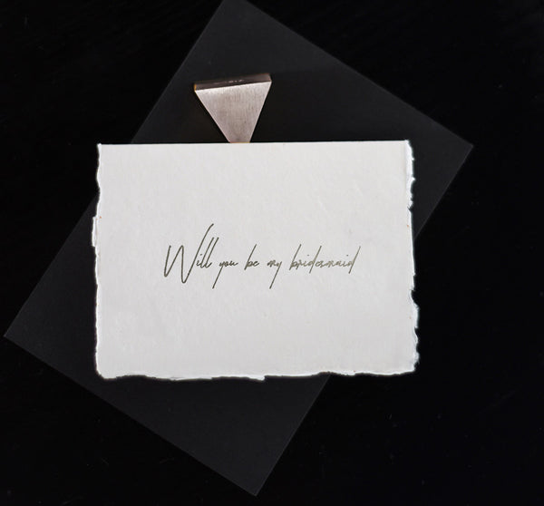 Bridesmaid Card - Silver - Envelopes by Olympia