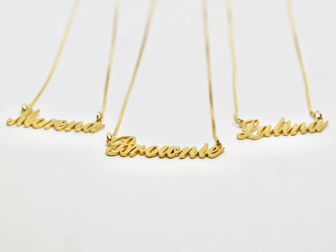 Custom Nameplate Necklaces