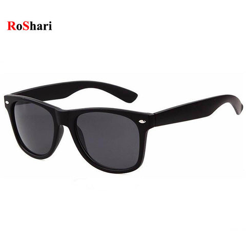 RoShari Vintage Classic sun glasses men sunglasses women Brand Designer women Sunglasses Men Retro sunglass oculos gafas de sol