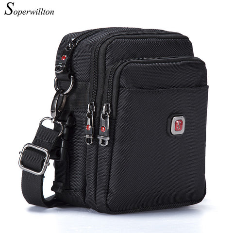 Soperwillton Brand Men's Bag Messenger Bags Wateproof High Quality Oxford 1680D Zipper Bag Crossbody