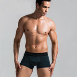 HQ 2017 New Men Hot Men's Boxer Solid Color Short Underwear Male Sexy Casual Boxer Europe and America Men Sexy Underwear DYY1527