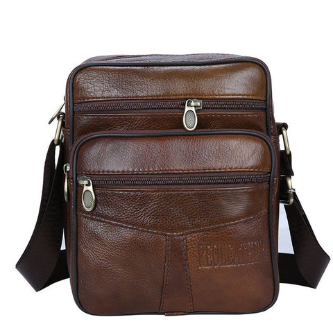 Cow Genuine Leather Messenger Bags Men Casual Travel Business Crossbody Shoulder Bag for Man Sacoche Homme Bolsa Masculina MBA19
