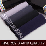 Innersy 2016 Panties Mens 4Pcs\lot Underwear Soft Boxers Modal Boxer Men Solid Boxer Shorts Plus Size Boxers Mens Underwear Lot