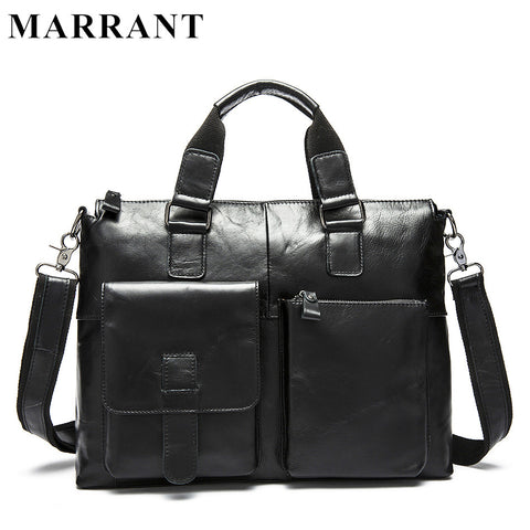 MARRANT Genuine Leather Bag Fashion Handbags Laptop Briefcase