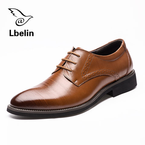 Classic Men Dress Shoes Genuine Leather
