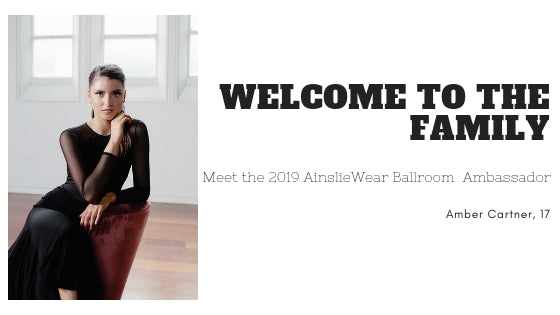 Meet our 2019 AinslieWear Ballroom Ambassador - Amber Cartner