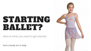 Starting Ballet? Here's a helpful list to get your started