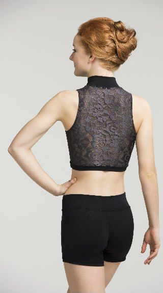Zip Front Crop Top Deco Lace - AW315DC