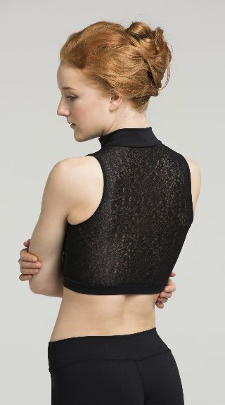 Zip Front Crop Top with Royal Lace - AW315RL
