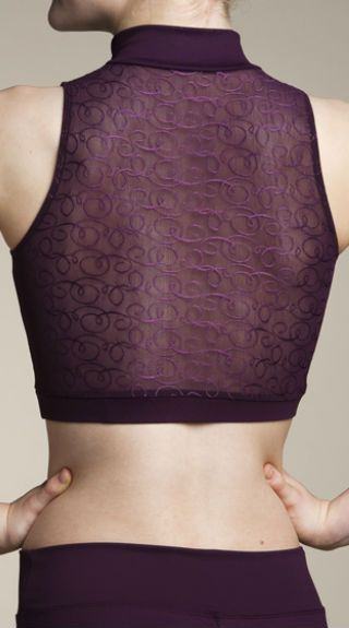 Zip Front Crop Top Swirl Lace - AW315SW