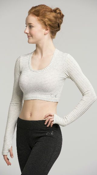 Long Sleeve Crop Top in Jersey - AW318