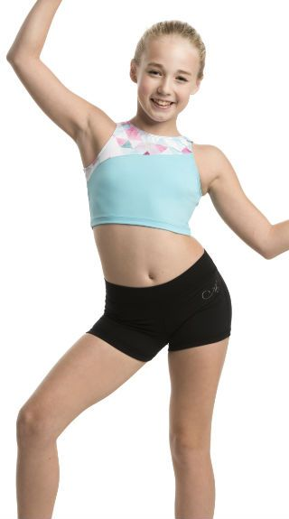 Girls Jenna - Crop Top with Triangle Print - AW332TR G
