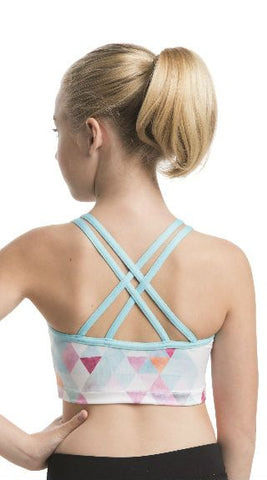 Girls Ella Crop Top with Triangle Print - AW334TR G