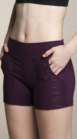 Pocket Shorts with Swirl Lace - AW421SW