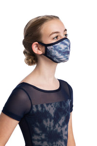 Girls Face Mask in Shibori Print - AW999SH G