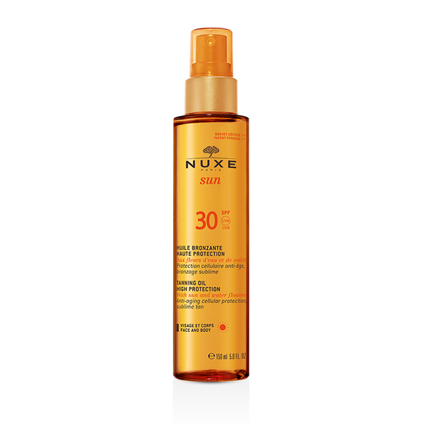 Tanning Oil High Protection for Face and Body SPF 30 NUXE Sun